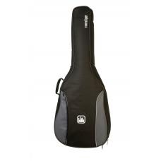 Tasche für 4/4 Konzertgitarre, 10 mm Polsterung, grau-schwarz