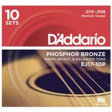 DAddario Saitensatz EJ17-10P, 10er Pack