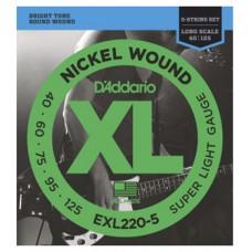 DAddario EXL220-5 Saitensatz für 5 Saiter E-Bass