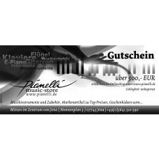 500 EUR Pianelli Gutschein für Musikinstrumente und Zubehör, Gitarre, Piano...