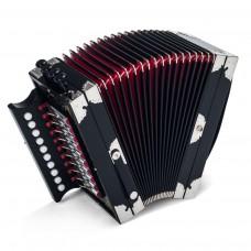 Deutsche Harmonika 10/2/IV/4 in schwarz lackiert im Koffer