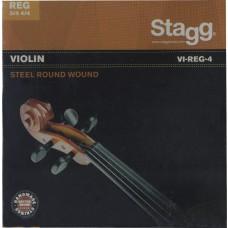 4/4 u. 3/4 Violinen, Saitensatz, Stahl, rund gewickelt,   extra-leicht