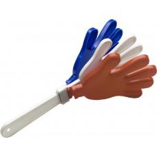 Kunststoff Go-Go Handklapper in der französischen Nationalfarbe.