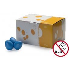 Schütteleier Box in blau matt, 50 Stück Egg Shaker, Rasselei