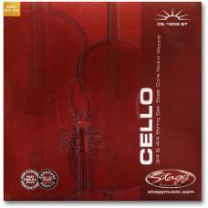 4/4 u. 3/4 Cello Saitensatz, Stahl, extra super-leicht