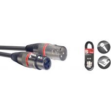 Mikrofon-Kabel XLR/XLR, rot, 1 Meter
