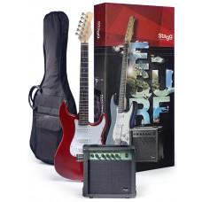 Stagg Surfstar E-Gitarre + Verstärker Pack,