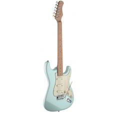 E-Gitarre mit massivem Erlenkorpus im Vintage Style in Sonic Blue