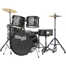 """Schlagzeug 22"""" TIM122B BK, Drumset, komplett, schwarz"""