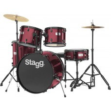 """22"""" Schlagzeug, Drumset, komplett, TIM122B WR, weinrot"""