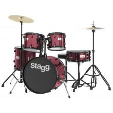 "20"" Drumset, komplett, weinrot"