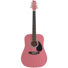 Akustische Dreadnought, Westerngitarre 3/4, in Pink