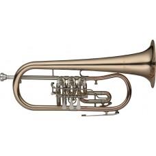 B-Flügelhorn mit Drehventilen,  im Softcase