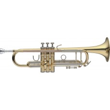 B-Trompete,  Mundrohr in Goldmessing, im Softcase