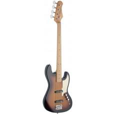 4-saitige E-Bassgitarre, sunburst