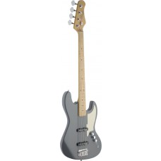 4-saitige E-Bassgitarre, grau