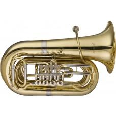 B Tuba, 4 Drehventile, im Softcase mit Rollen
