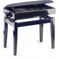 Klavierbank mit Notenfach schwarz