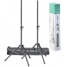 Lautsprecherstativ-Paar aus Stahl mit Tragetasche