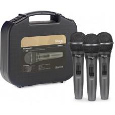 3 dynamischen Mikrofonen für Liveauftritte