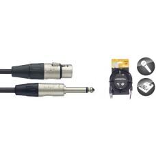 3 Meter Mikrofonkabel - XLR M / Mono-Klinke