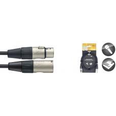 3 Meter Profesionelles Mikrofon-Kabel, XLR m. / XLR f