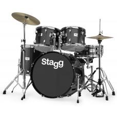 """Tim322B 5 teiliges Drumset 22"""", schwarz"""