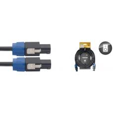 professionelles Lautsprecherkabel Speakonstecker, 2 x 2,5 mm2, 10 Meter, 4-Pin/ 2 angeschl