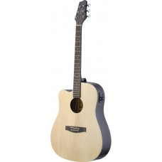 Elektro-akustische Dreadnought Gitarre mit CL-4 B-Band EQ, Linkshänder, Natur matt, SA30DCE-N LH