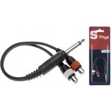 1x Mannliche monoklinke/2x Weibliche cinch-stecker adapter kabel im blister