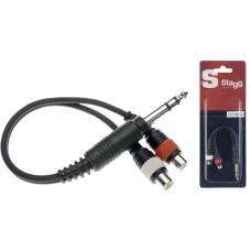 1 x Mannliche stereoklinke/ 2 x Weibliche Cinch-stecker adapter kabel
