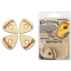 Packung mit 4 Riversong Original 0.8mm Ahorn und Fibretone Plektren
