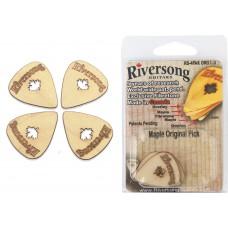 Packung mit 4 Riversong Original 1mm Ahorn und Fibretone Plektren