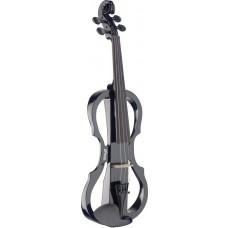 4/4 Silent Violin Set mit schwarzer E-Violine, Softcase und Kopfhöre