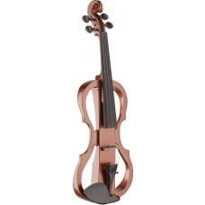 4/4 Silent Violin Set mit Violin Burst Violine, Softcase und Kopfhörer