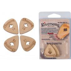 Packung mit 4 Riversong Original Ahorn und Fibretone Plektren