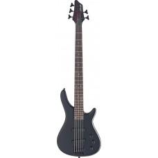 """5-saitige """"Fusion"""" E-Bassgitarre, Stagg, 5 Saiter, komplett schwarz"""