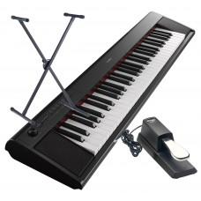 Keyboard Yamaha NP-12 B im Set mit Ständer und Pedal
