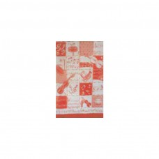 Schal Violine, rot/ weiß