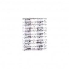 Schal Noten, weiß/ schwarz