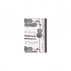 Schal Klarinette/ Violine, schwarz/ weiß