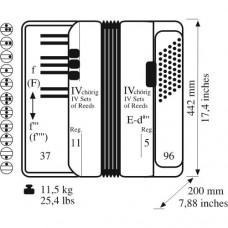 Akkordeon Supra Meisterinstrument (Klassisches Cassotto) 37/96/IV/11/5  schwarz oder weiß