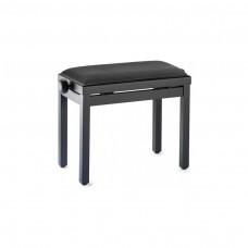 Klavierbank schwarz matt