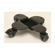 Flügeltransportrollen, schwarz mit Gummirollen, 31702