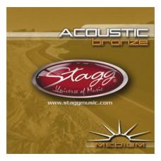 Bronze Saitensatz für Akustikgitarre - medium, Stagg
