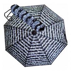 Regenschirm klein, schwarz mit Noten