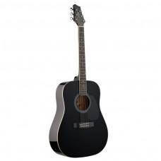 Westerngitarre Stagg SW201, schwarz Glanz