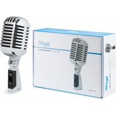 Dynamisches Mikrofon im Stil der 50er