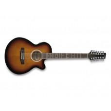 Elektroakustische 12-saiter Folk-Gitarre mit Cutaway, SW206CE-12 violin burst