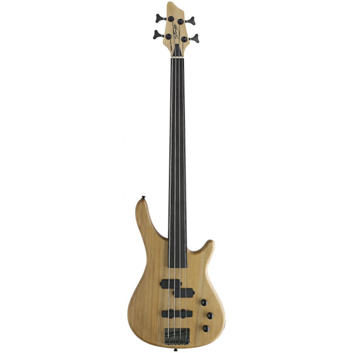 Stagg BC300FL-NS Fretless 4-saitige Fusion E-Bassgitarre